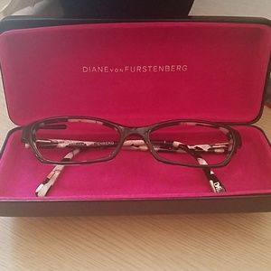Diane von Furstenber glasses no lenses